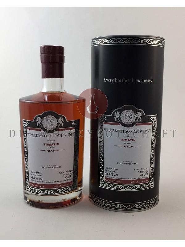 MOS - Tomatin 1997 / 2019 Red Wine Hogshead - Malts of Scotland - limitiert