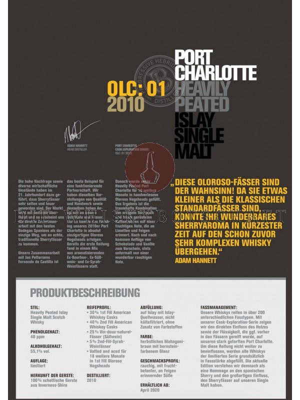 Bruichladdich Port Charlotte OLC:01