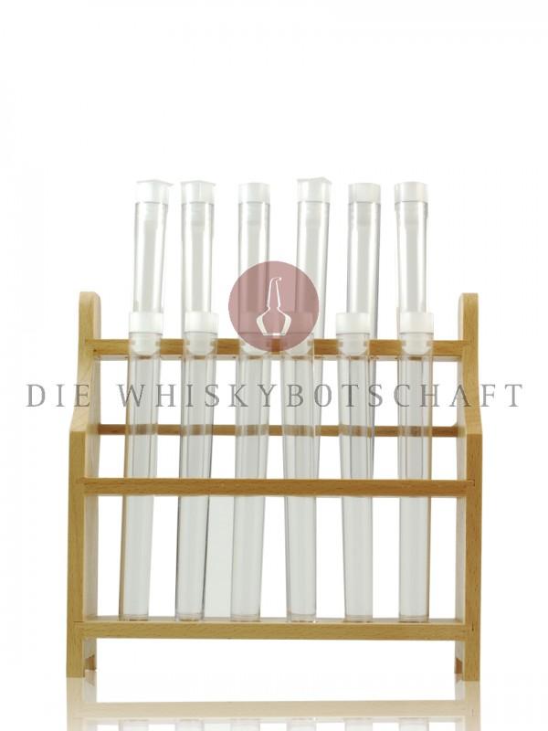 24 Reagenzgläser mit 2 Ständern aus Holz