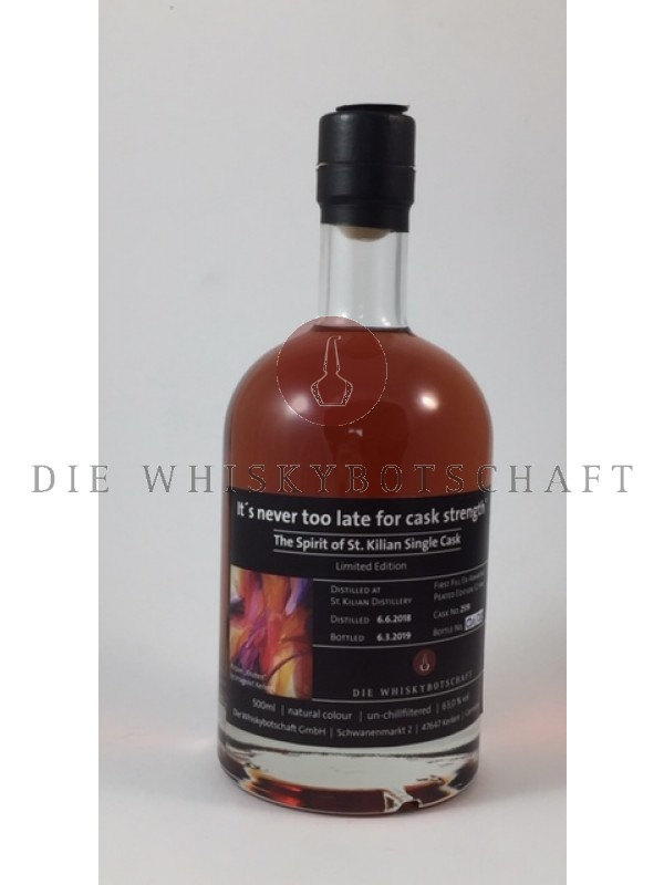 "St. Kilian Spirit Amarone Cask- ""It's never too late for cask strength""- Die Whiskybotschaft 0,5l"