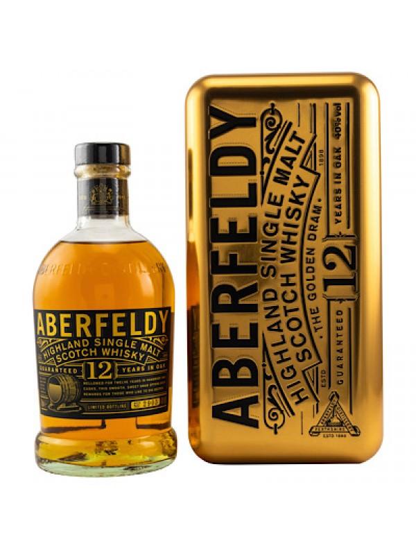 Aberfeldy 12 Jahre in edler Goldbarren - Geschenkdose