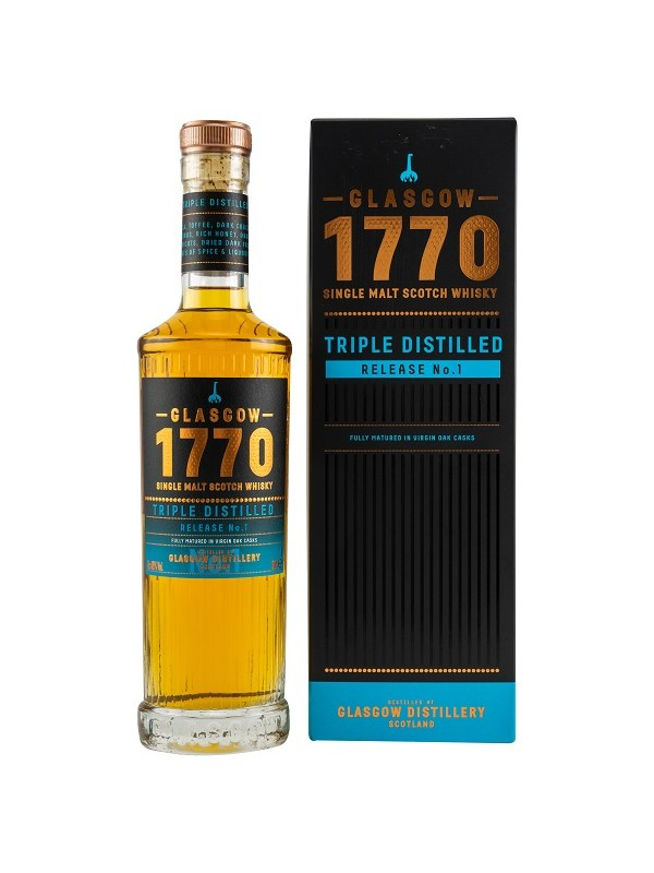 1770 Glasgow Single Malt Scotch Whisky Triple Distilled Release No. 1