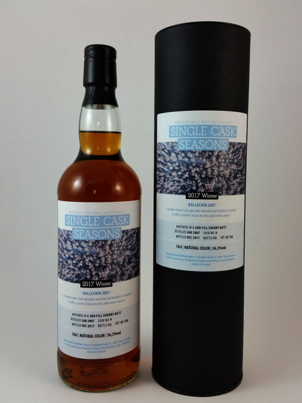 Ballechin 2007 / 2017 Winter Single Cask Seasons