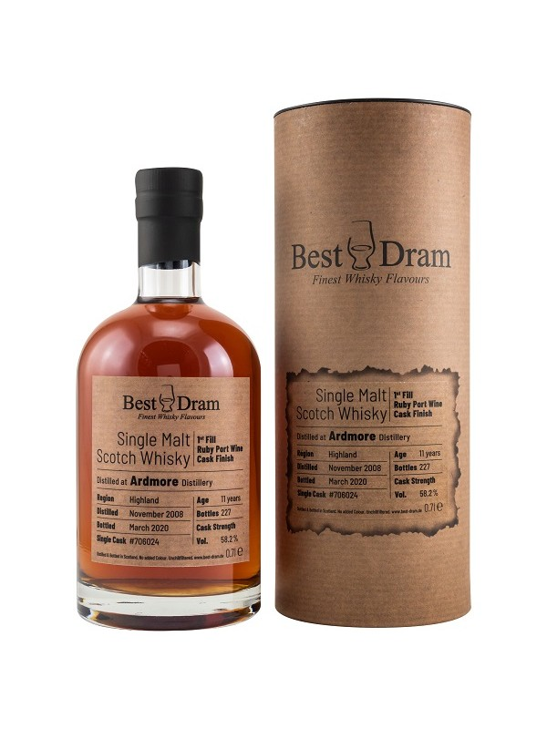 Best Dram - Ardmore 11 Jahre 2008 / 2020 Ruby Port Finish