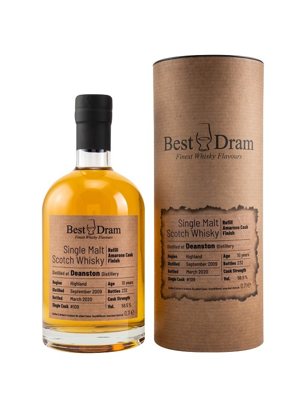 Best Dram Deanston 10 Jahre 2009 / 2020 Amarone Finish