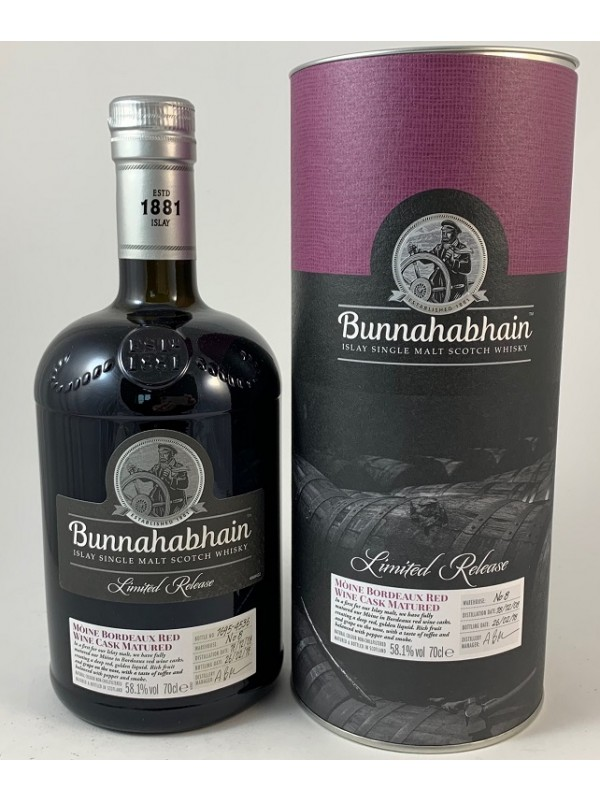 Bunnahabhain 9 Jahre 2008/2018 - Mòine Bordeaux Red Wine Cask Limited