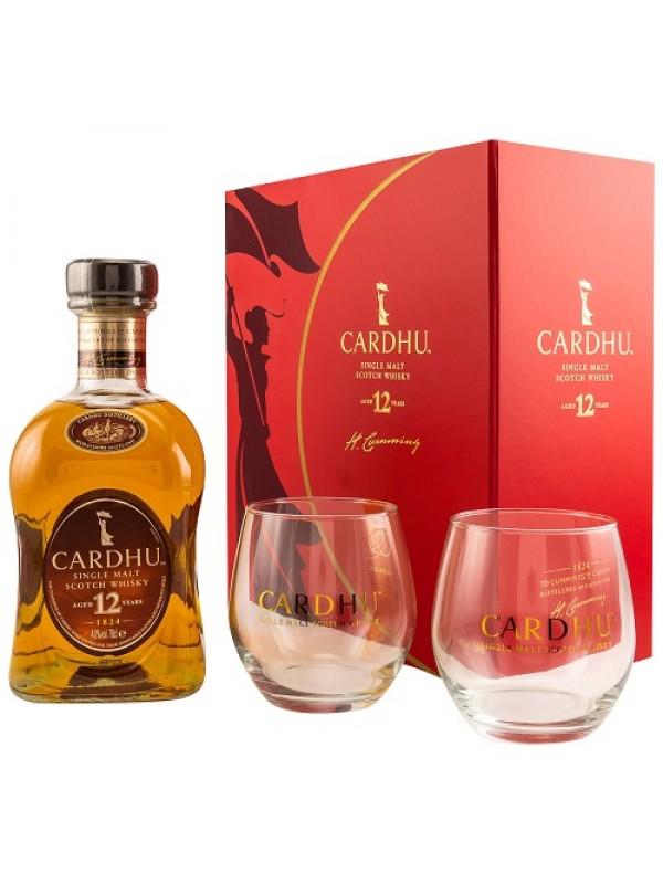 Cardhu 12 Jahre Geschenkset mit 2 Gläsern