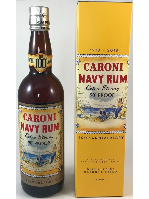 Caroni Navy Rum 90 Proof Extra Strong 100th Anniversary