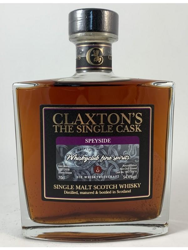 Glen Moray 11 Jahre Octave Cask von Claxton`s  Sonderabfüllung für die Whiskybotschaft