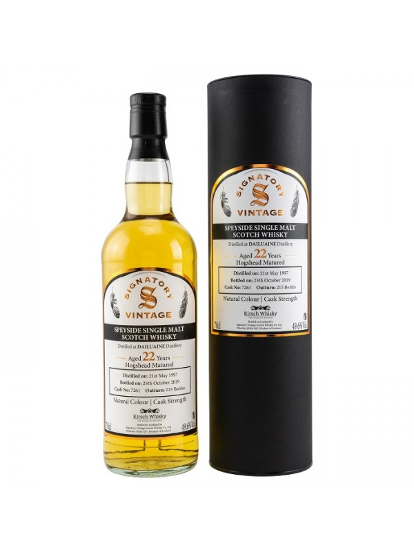 Dailuaine 1997 / 2019 22 Jahre Signatory Cask Strength - by Kirsch