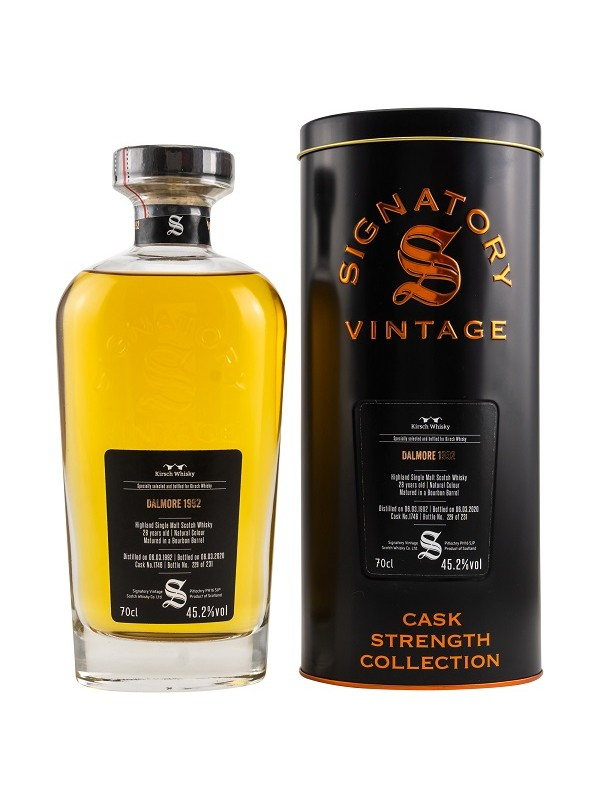 Dalmore 28 Jahre 1992 / 2020 Signatory Vintage Cask Strength Collection - Kirsch Exclusive