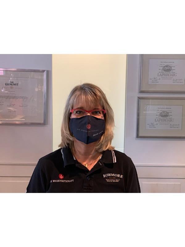 Mundschutz- Mund-Nase-Bedeckung mit Whiskybotschaftbranding