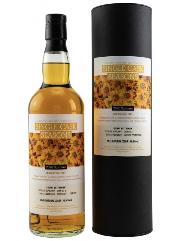 Blair Athol 2007 / 2020 Summer 2020 Signatory Single Cask