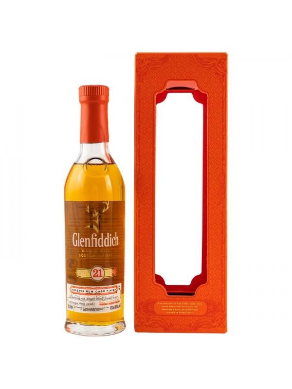 Glenfiddich 21 Jahre Reserva Rum Cask Finish 200ml