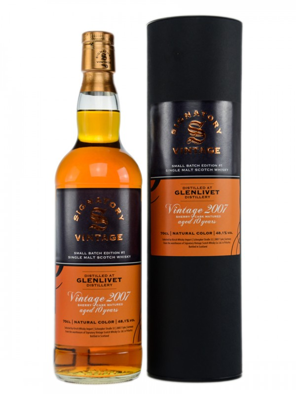 Glenlivet Vintage 2007 Sherry Cask Small Batch Edition #1 Signatory