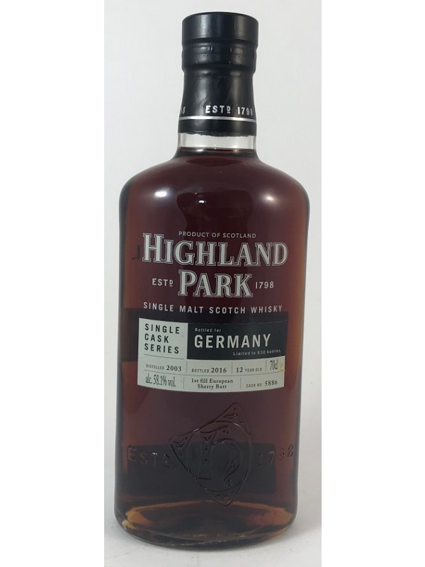 Highland Park 2003/2016 Single Cask 5886