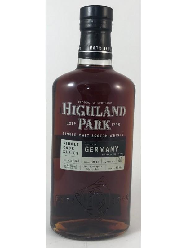 Highland Park 2003/2016 Single Cask 5886