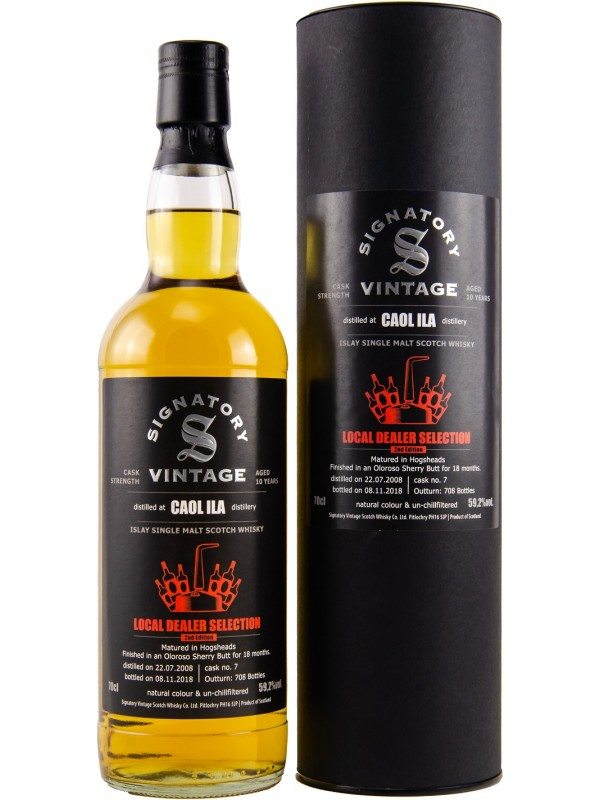 Local Dealer Selection Caol Ila 2008 Signatory