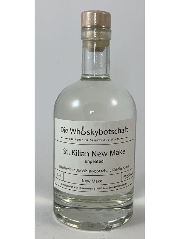 New Make Spirit Cask Strength 63,5 Prozent für die Whiskybotschaft (St. Kilian White Dog)