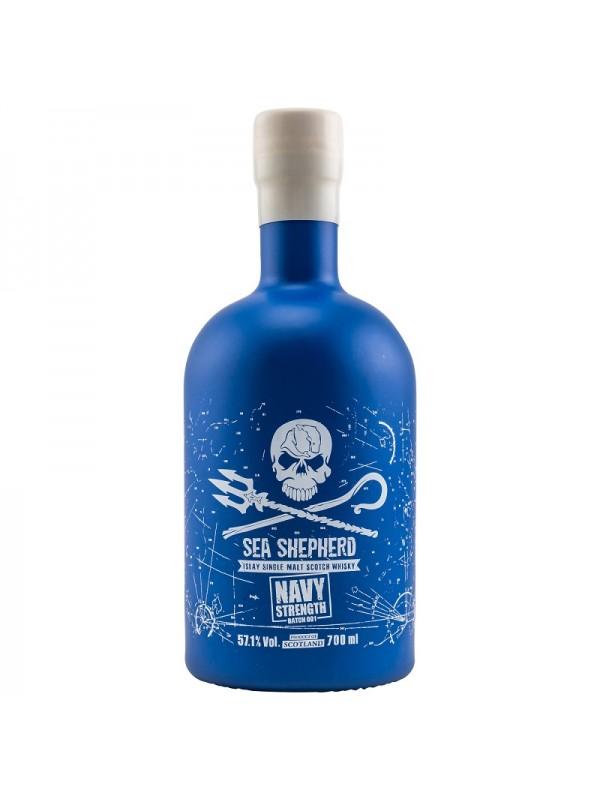 Sea Shepherd Navy Strength - Islay Single Malt Whisky mit Sea Shepherd Aufkleber gratis