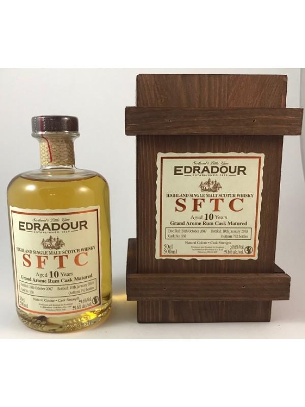 Edradour SFTC 10 Jahre 2007 / 2018 Grand Arome Rum Cask Matured