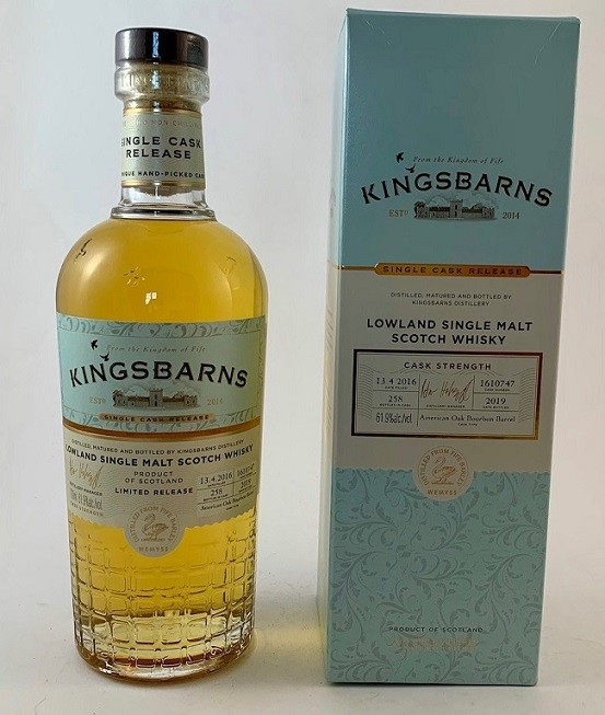 Kingsbarns Bourbon Single Cask No. 1610747