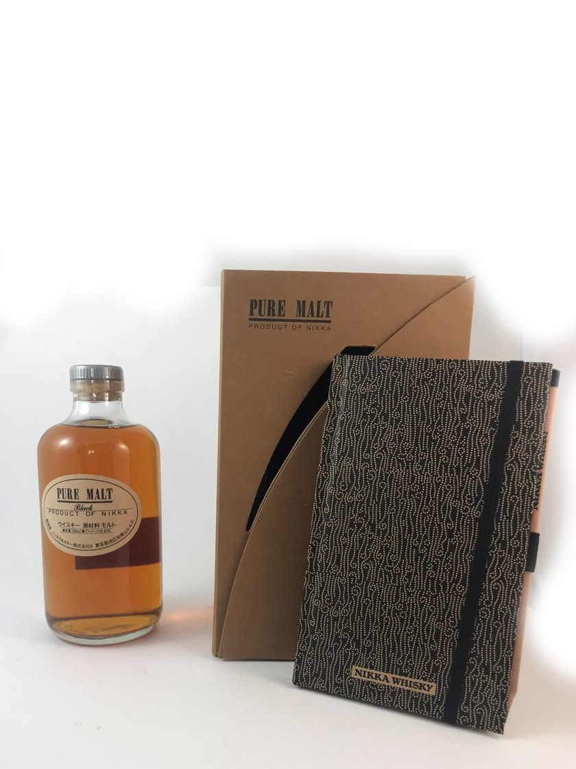 Nikka Pure Malt Black mit Notizbuch