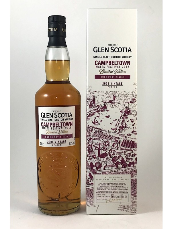 Glen Scotia 2008 Vintage Ruby Port Cask Finish