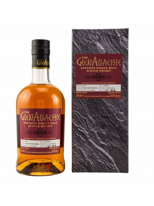 GlenAllachie 2008 / 2019 Single Cask 4419 - Rioja Red Wine Barrel