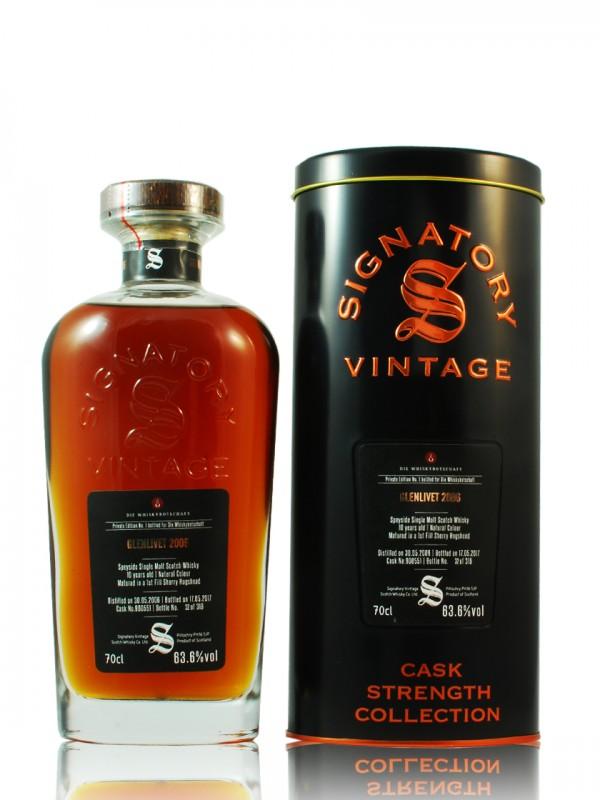 Glenlivet 10 Jahre 2006 / 2016 Signatory Vintage Private Edition No.1 für die Whiskybotschaft