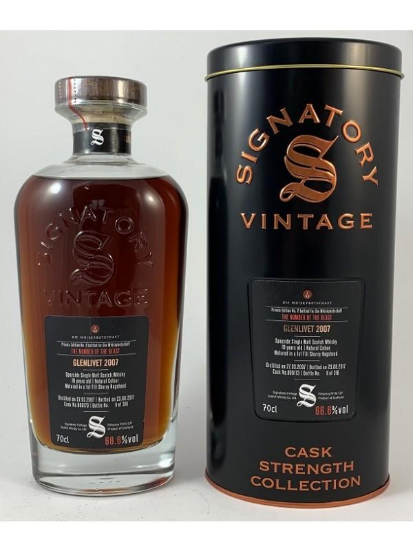 Glenlivet 10 Jahre 2007 / 2017 Signatory Vintage Private Edition No.2 für die Whiskybotschaft The Beast